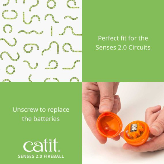 Senses 2.0 Fireball is a perfect fit for the Senses 2.0 Circuits. Unscrew to replace the batteries