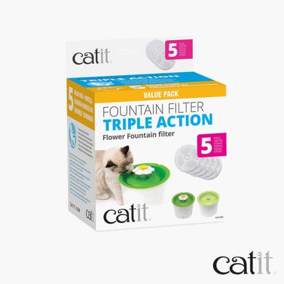 Filtre à triple action Catit - 2 pack