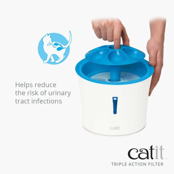 Catit Triple Action Filters helps reduce the risk of urinary tract infections