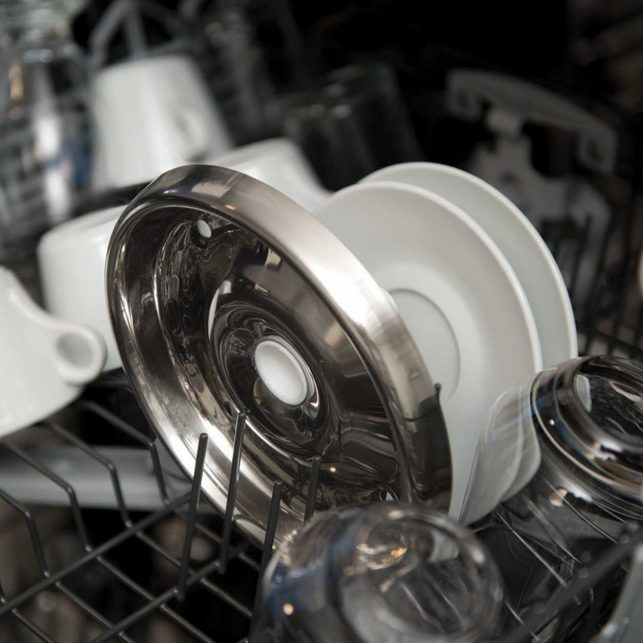 stainless steel drinking bowl in dishwasher