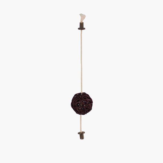 52204 - Vesper Rattan Ball Toy - Dark