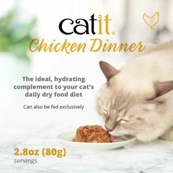 Catit Chicken Dinner - The ideal, hydrating complement to your cat's daily dry food diet. Can also be fed exlusively