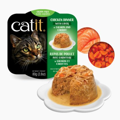 Catit Chicken Dinner - Salmon and Carrot