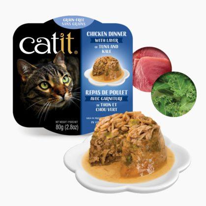 Catit Chicken Dinner - Tuna and Kale