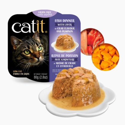 Catit Fish Dinner - Crab Flavour and Pumpkin