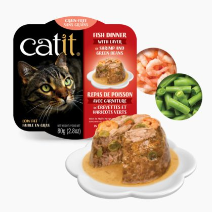 Catit Fish Dinner - Shrimp and Green Beans