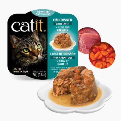 Catit Fish Dinner - Tuna and Carrots