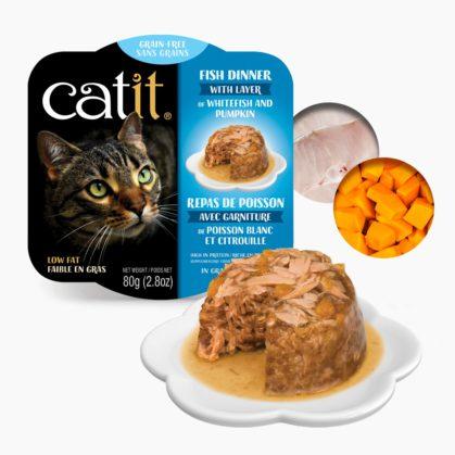 Catit Fish Dinner - Whitefish and Pumpkin