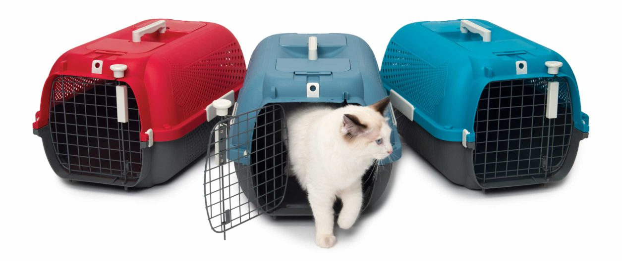 The Catit Cat Carrier is available in 3 colours
