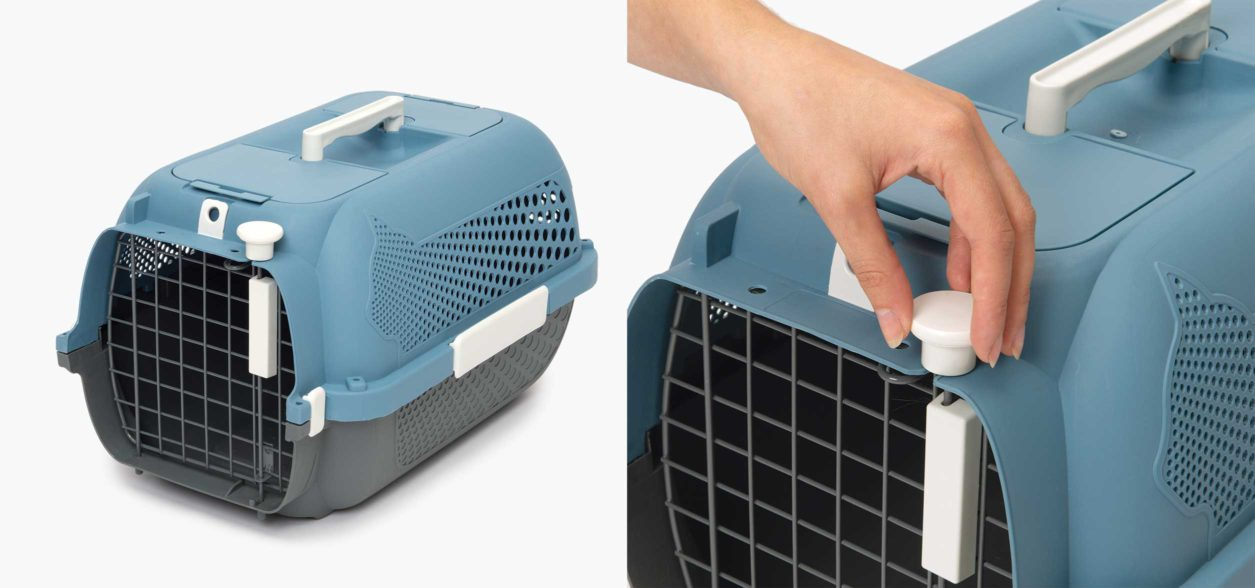 The Catit Cat Carrier has a handy safety lock