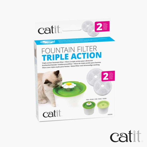 Catit triple action filter - 2 pack