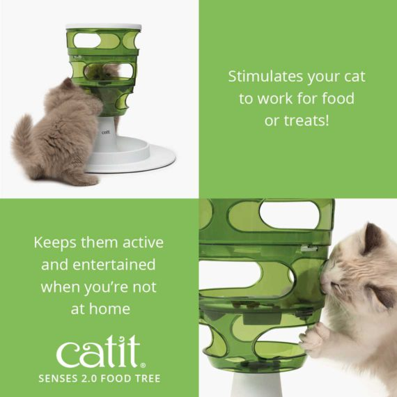 Senses 2.0 Food Tree stimulates your cat to work for food or treats and keeps them active and entertained when you're not at home
