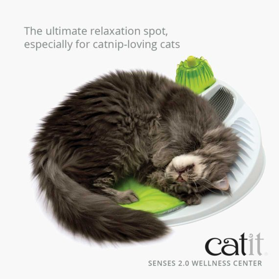 Catit Senses 2.0 Wellness Center is the ultimate relaxation spot, especially for catnip-loving cats