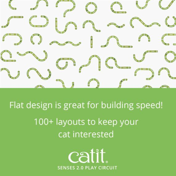 Senses 2.0 Play Center's flat design is great for building speed! 100+ layouts to keep your cat interested