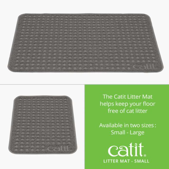 Catit Litter Mat helps keep your floor free of cat litter and is available in small and large size