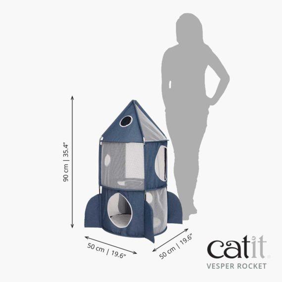 Catit Vesper Rocket measurements