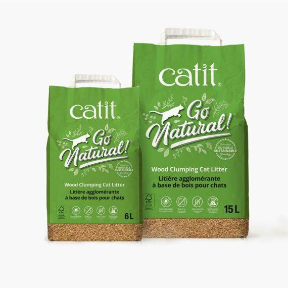 Catit Go Natural - Wood Clumping Cat Litter