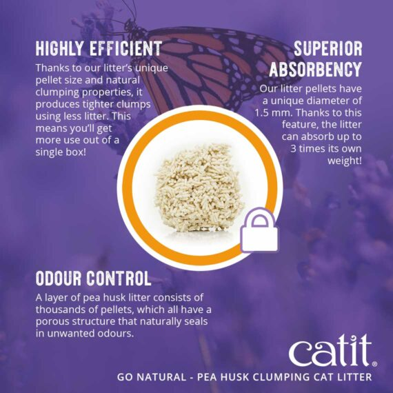 Go Natural Pea Husk - Highly efficient, super absorbency, odour control