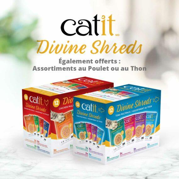 Catit Divine Shreds - Egalement offerts: Assortiments au Poulet et au Thon