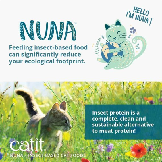 Catit Nuna - Feeding insect-based food can significantly reduce your ecological footprint