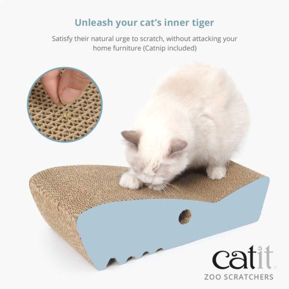 Catnip included zoo scratchers