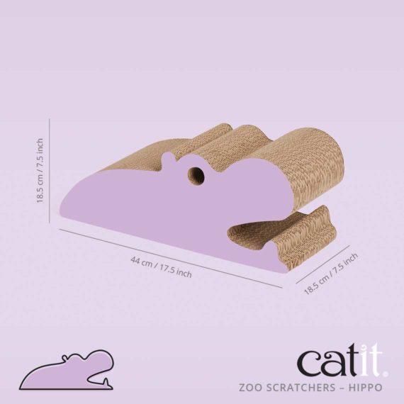 Zoo Scratcher Hippo size