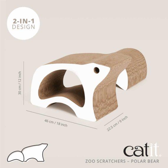 Zoo Scratcher Polar Bear size